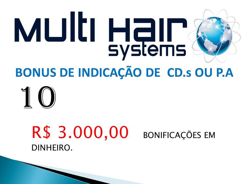 10 R$ 3.000,00 BONIFICAÇÕES EM DINHEIRO.