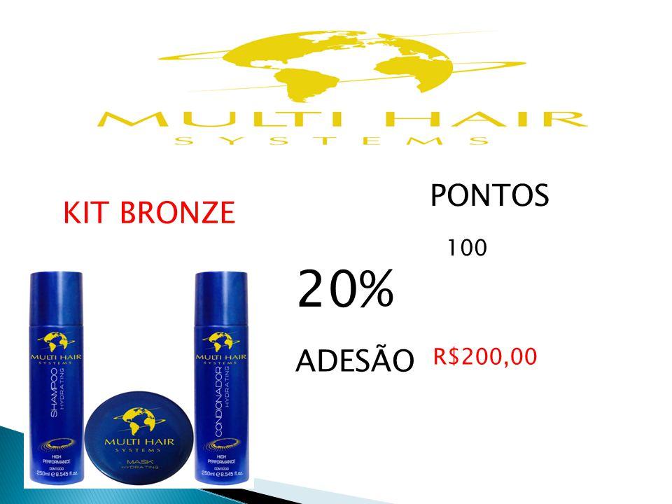 PONTOS 100 20% KIT BRONZE ADESÃO R$200,00