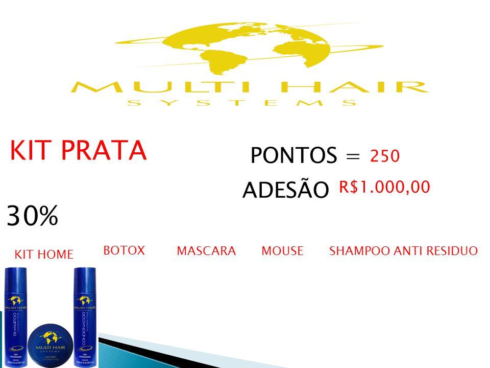 30% PONTOS = ADESÃO 250 R$1.000,00 KIT PRATA BOTOX MASCARA MOUSE