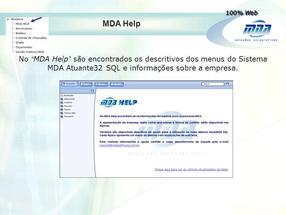 100% Web MDA Help.