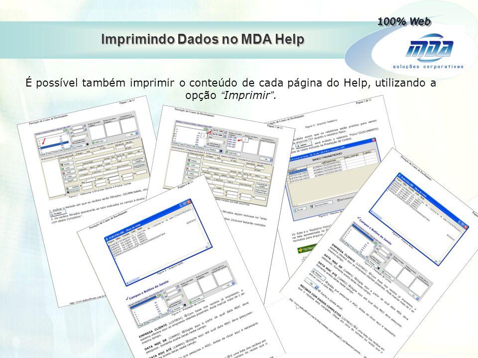 Imprimindo Dados no MDA Help