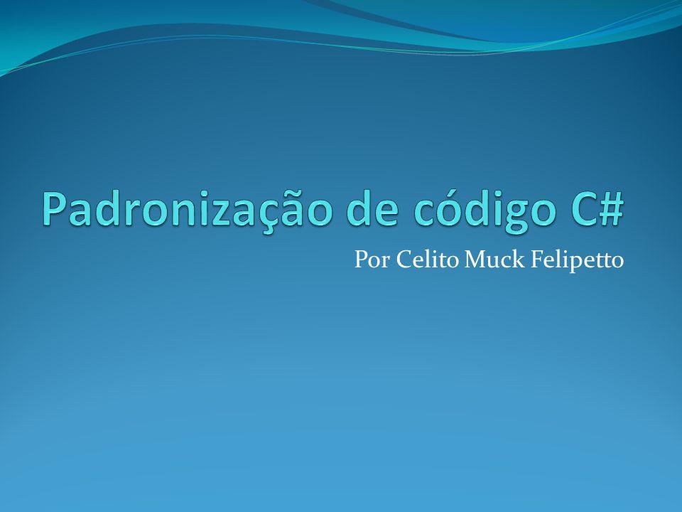 Padronização de código C#