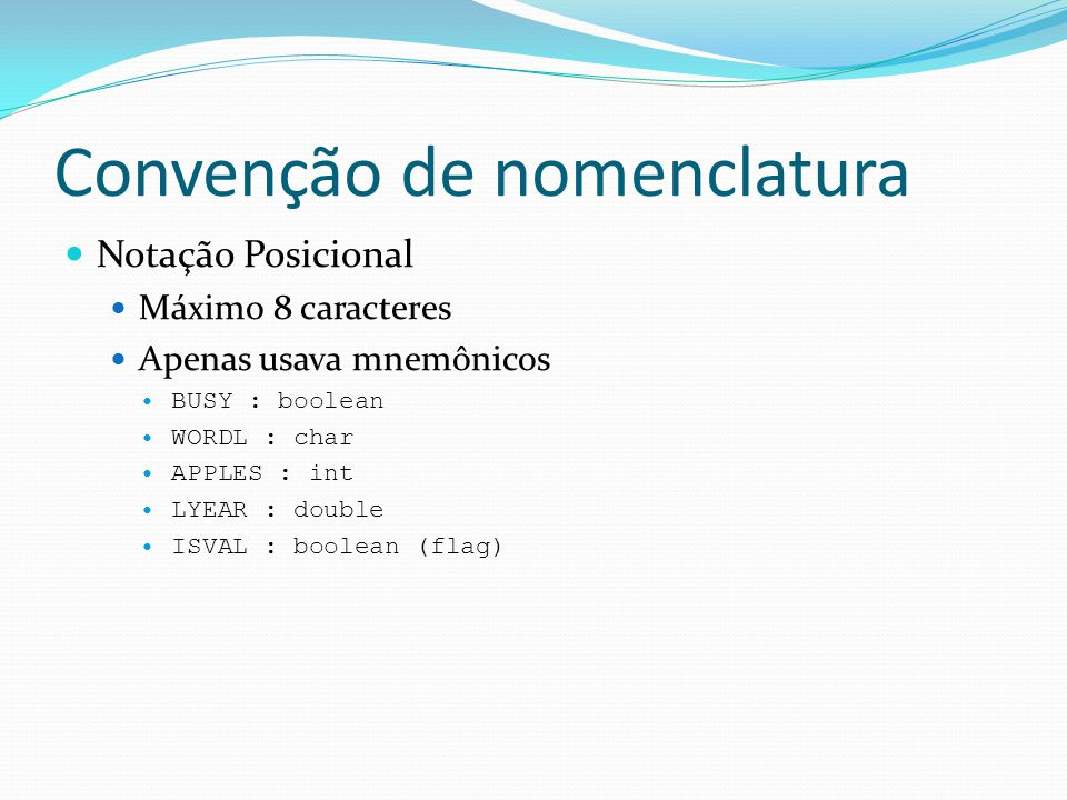 Convenção de nomenclatura