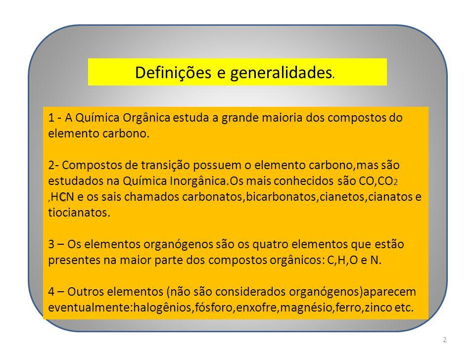 Definições e generalidades.