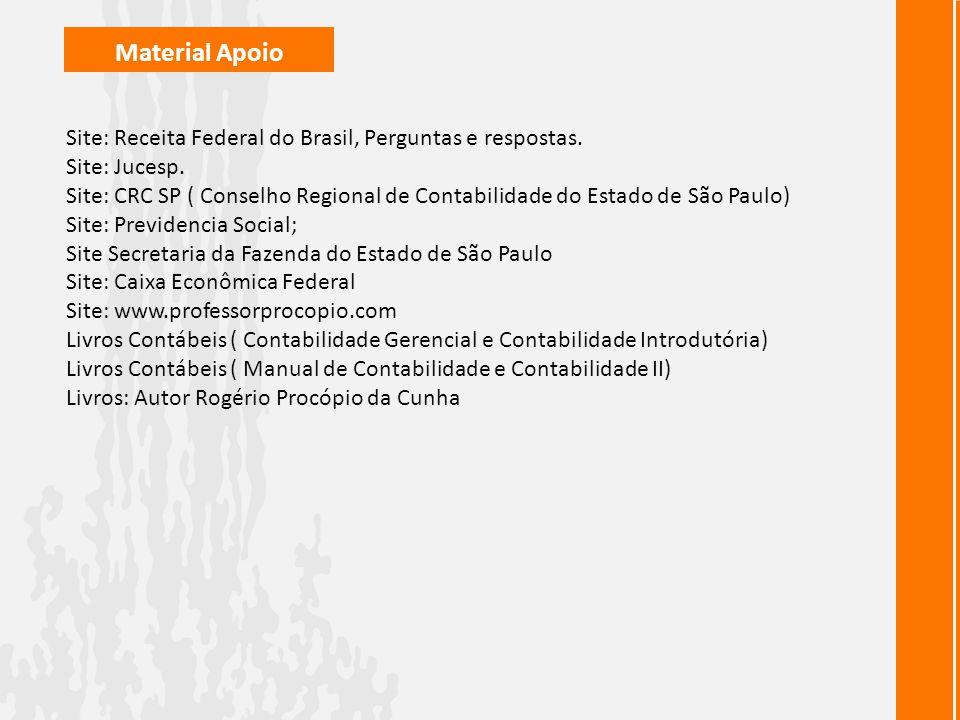 Material Apoio Site: Receita Federal do Brasil, Perguntas e respostas.