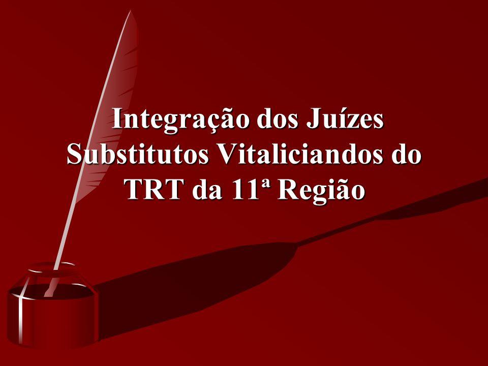 Integração dos Juízes Substitutos Vitaliciandos do TRT da 11ª Região