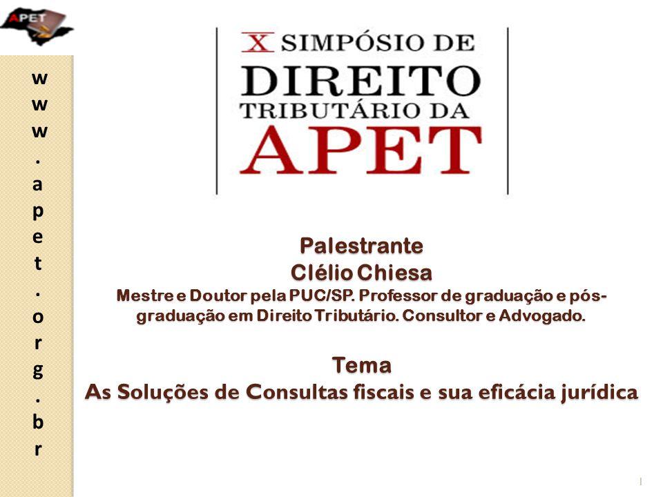 Palestrante Clélio Chiesa Mestre e Doutor pela PUC/SP