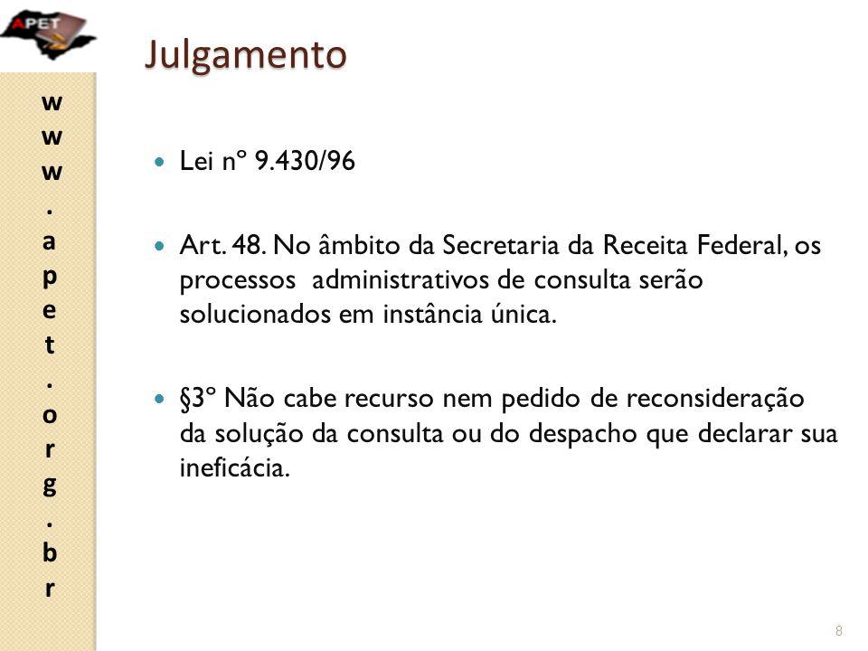 Julgamento Lei nº 9.430/96.