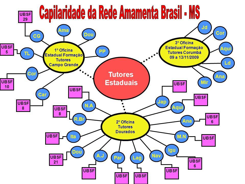 Capilaridade da Rede Amamenta Brasil - MS