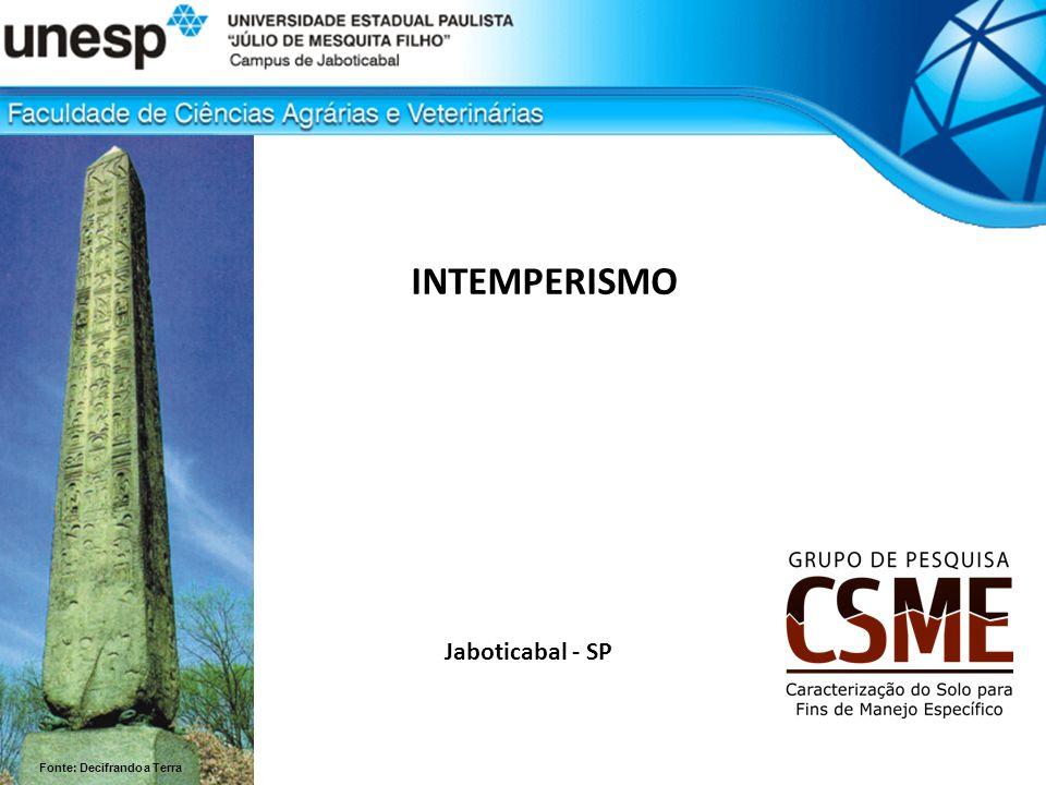 INTEMPERISMO Jaboticabal - SP Fonte: Decifrando a Terra