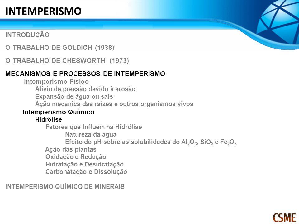 INTEMPERISMO INTRODUÇÃO O TRABALHO DE GOLDICH (1938)