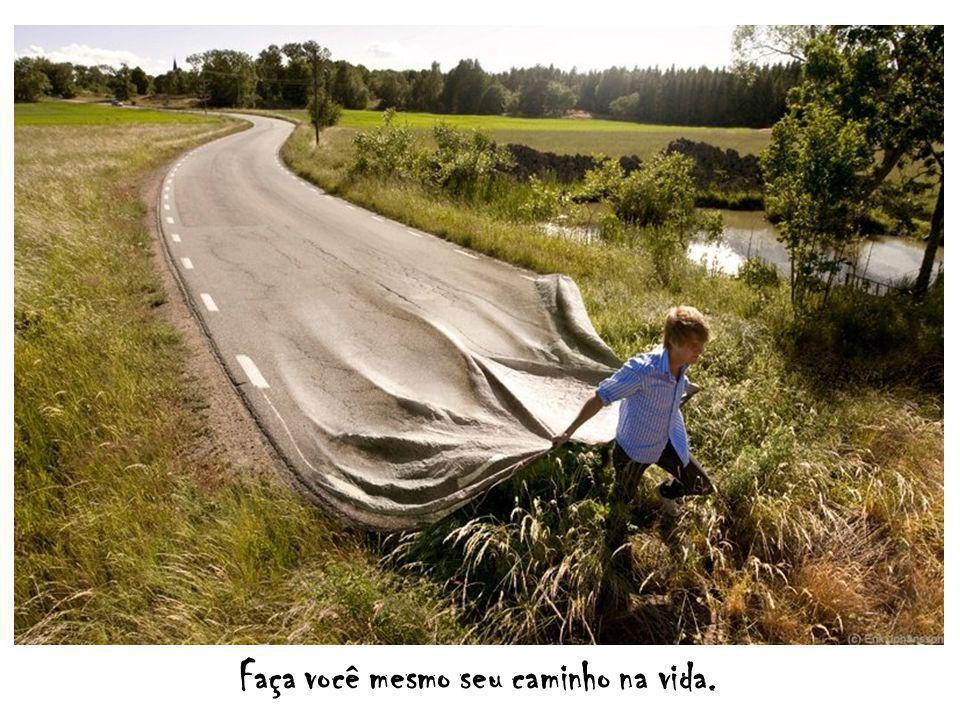 Faça você mesmo seu caminho na vida.