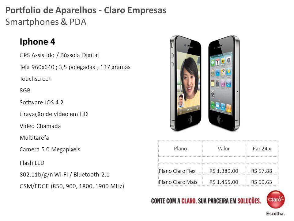 Portfolio de Aparelhos - Claro Empresas Smartphones & PDA