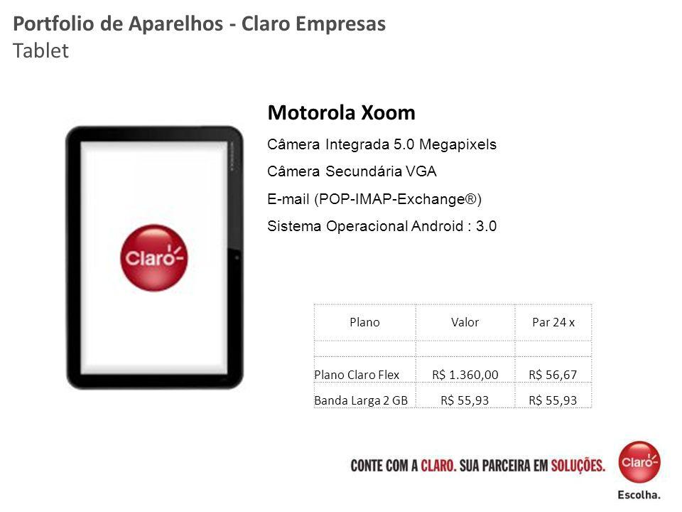 Portfolio de Aparelhos - Claro Empresas Tablet