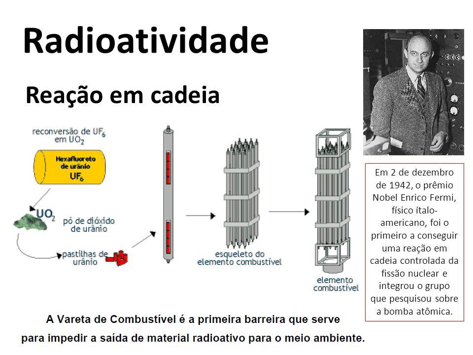 Radioatividade Reação em cadeia