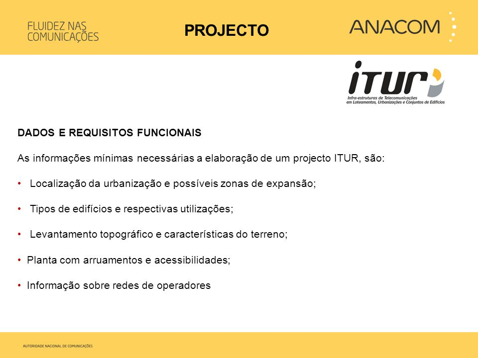 PROJECTO DADOS E REQUISITOS FUNCIONAIS