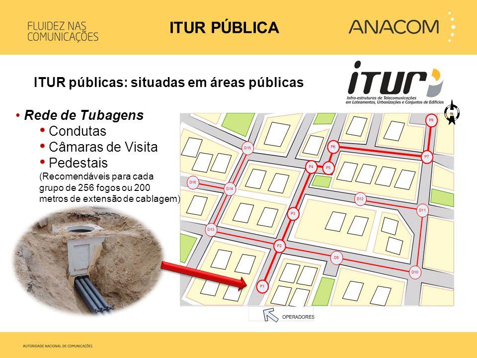 ITUR PÚBLICA ITUR públicas: situadas em áreas públicas Condutas