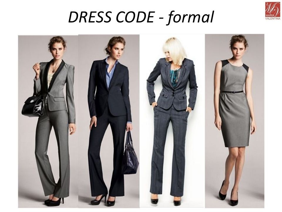 DRESS CODE - formal