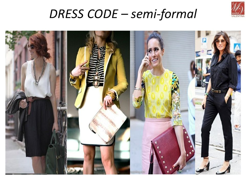 DRESS CODE – semi-formal