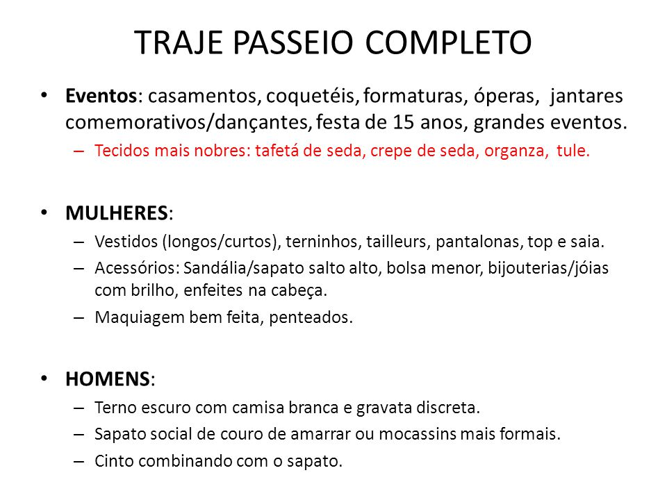 TRAJE PASSEIO COMPLETO