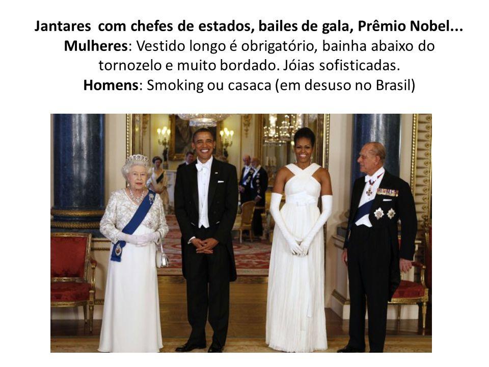 Jantares com chefes de estados, bailes de gala, Prêmio Nobel