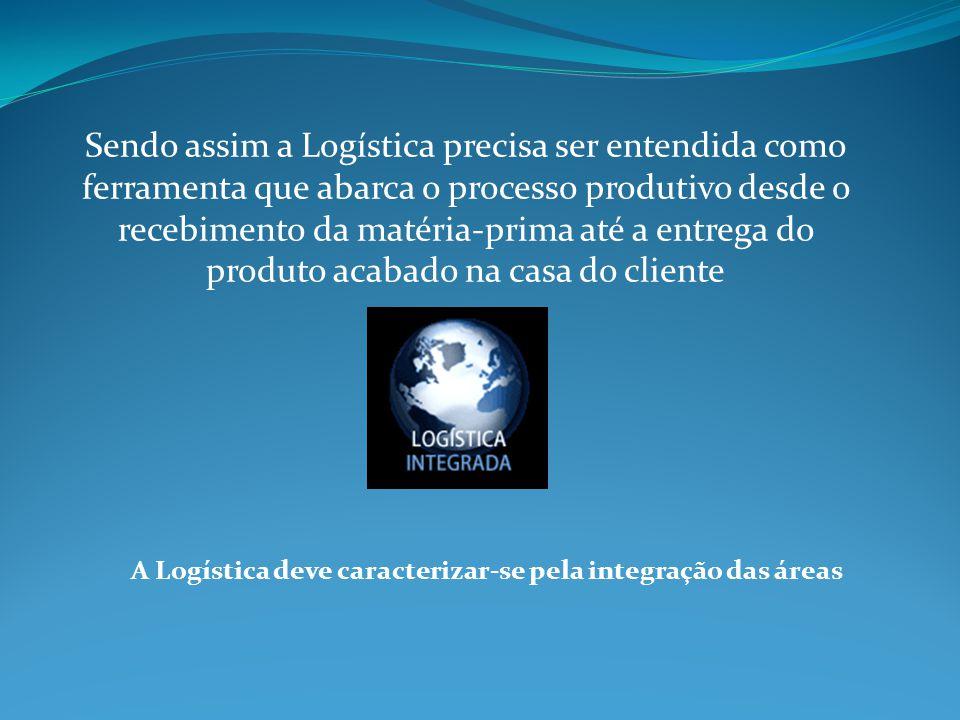 A Logística deve caracterizar-se pela integração das áreas