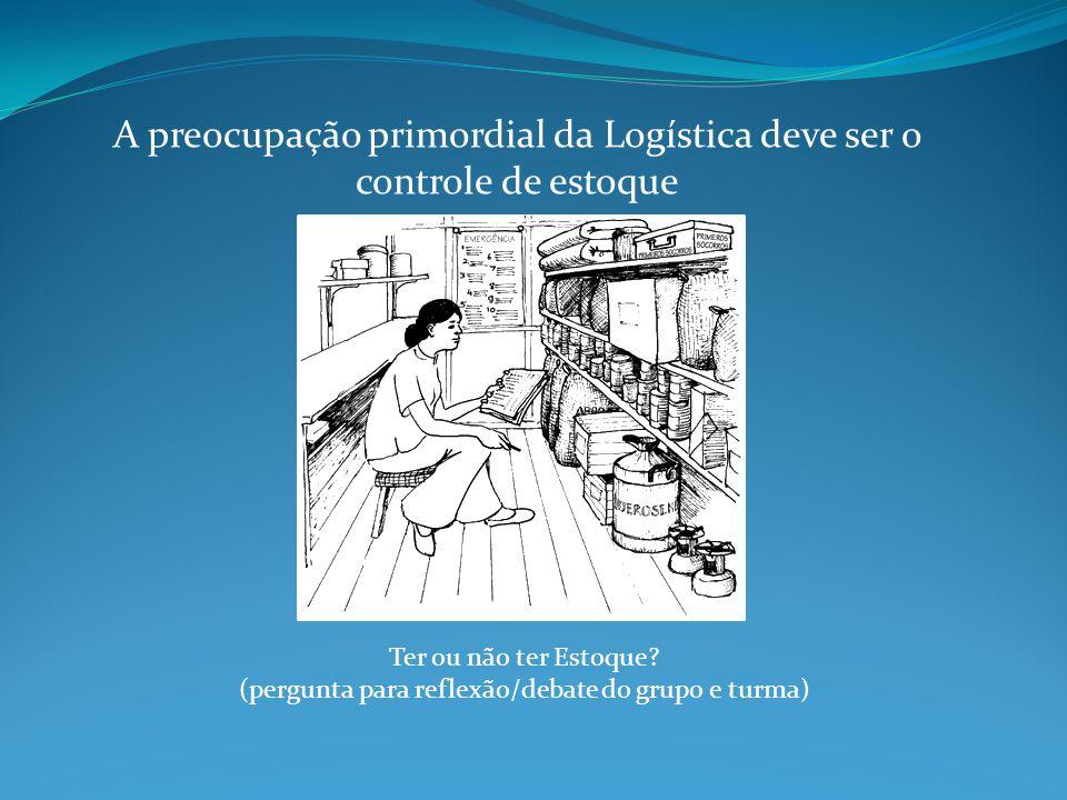 A preocupação primordial da Logística deve ser o controle de estoque