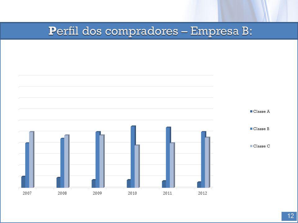 Perfil dos compradores – Empresa B: