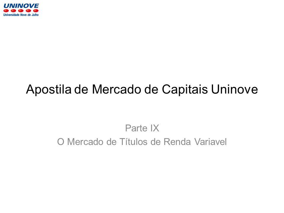 Apostila de Mercado de Capitais Uninove