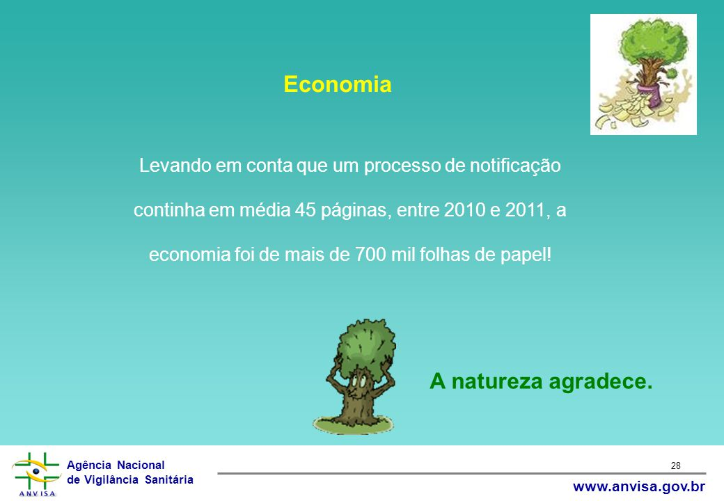 Economia A natureza agradece.