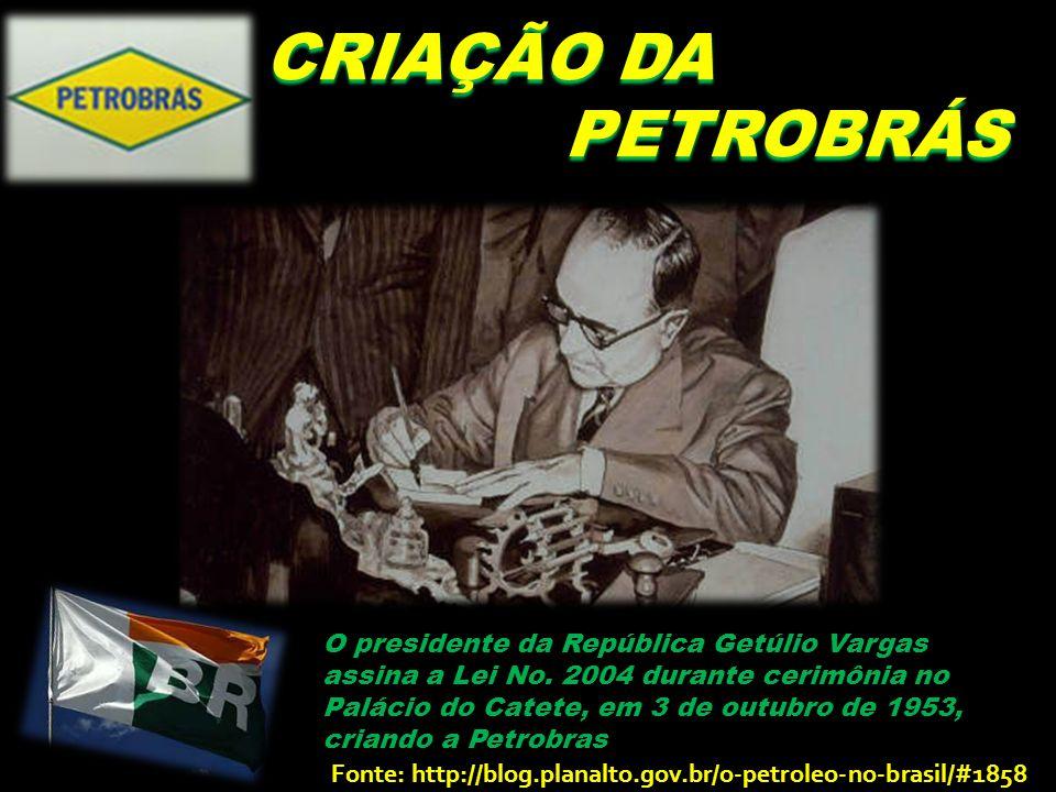 CRIAÇÃO DA PETROBRÁS.