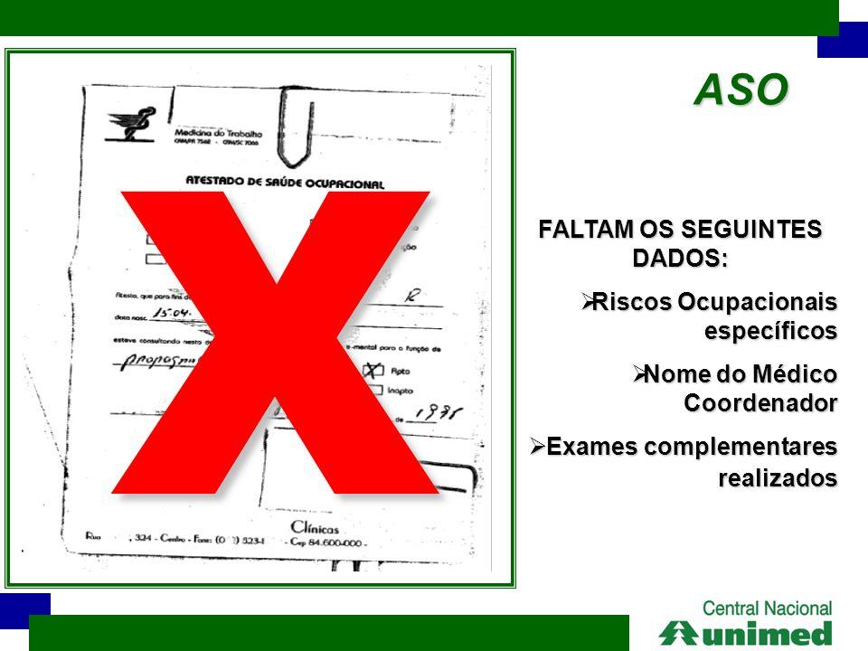 FALTAM OS SEGUINTES DADOS: