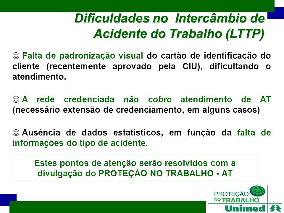 Dificuldades no Intercâmbio de Acidente do Trabalho (LTTP)