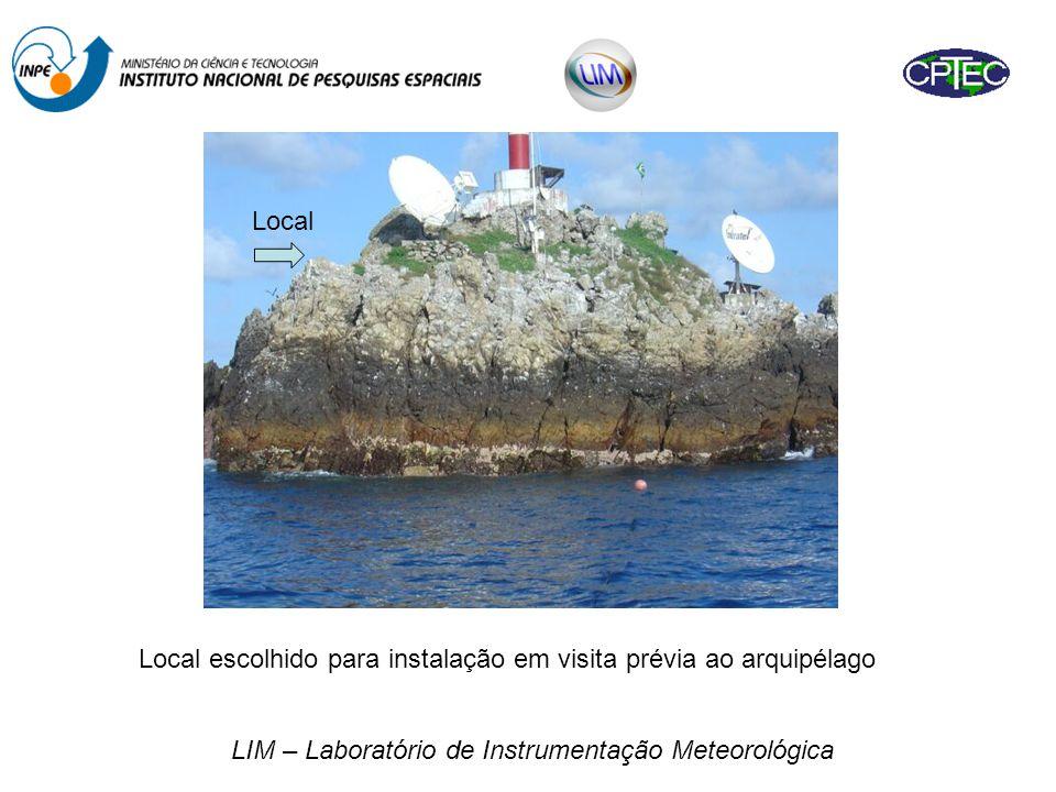 Local escolhido para instalação em visita prévia ao arquipélago
