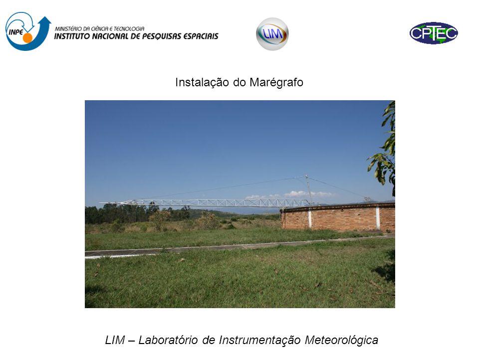 Instalação do Marégrafo