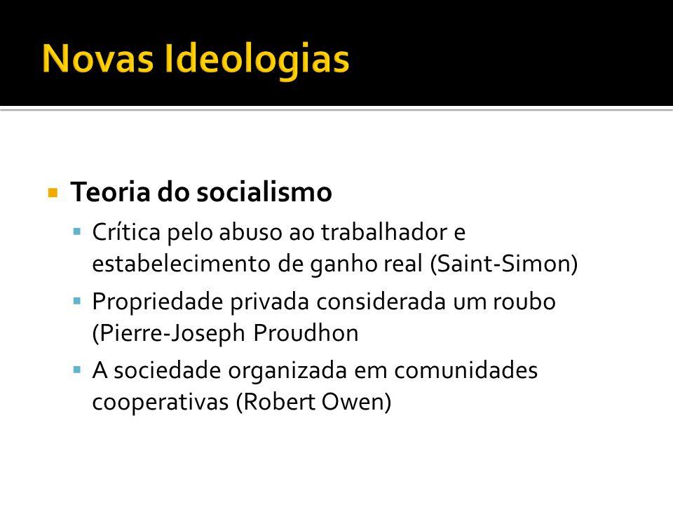 Novas Ideologias Teoria do socialismo