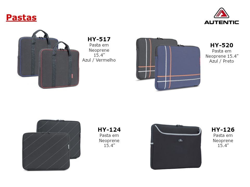 Pastas HY-517 HY-520 HY-124 HY-126 Pasta em Neoprene 15.4