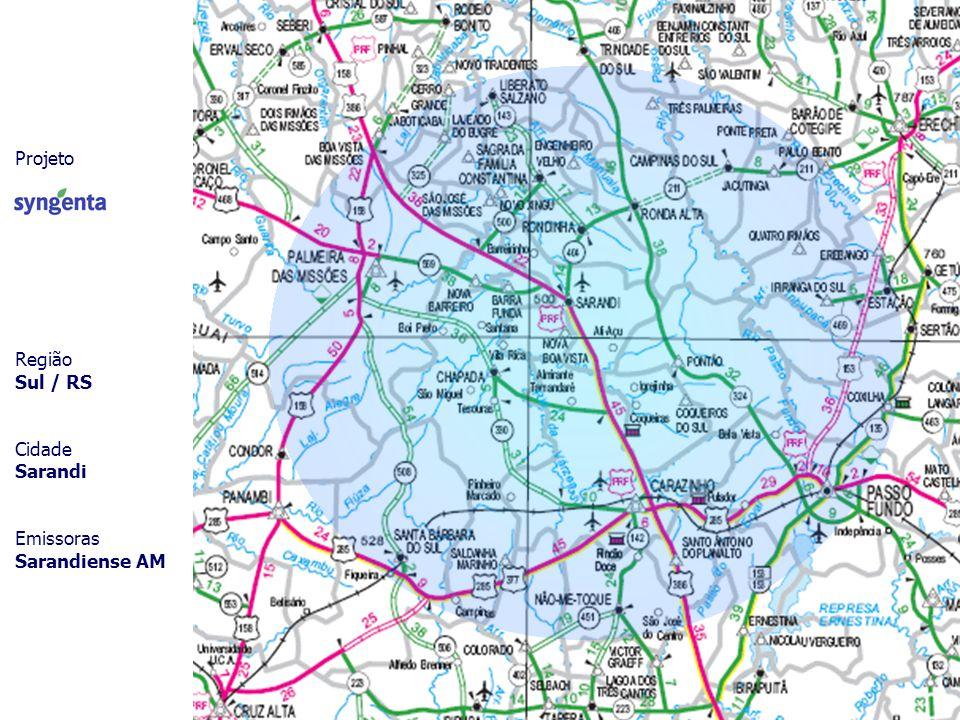 Projeto Região Sul / RS Cidade Sarandi Emissoras Sarandiense AM