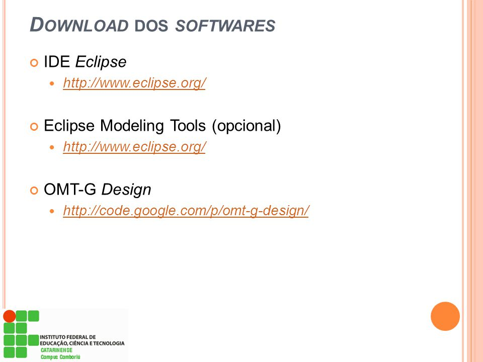 Download dos softwares