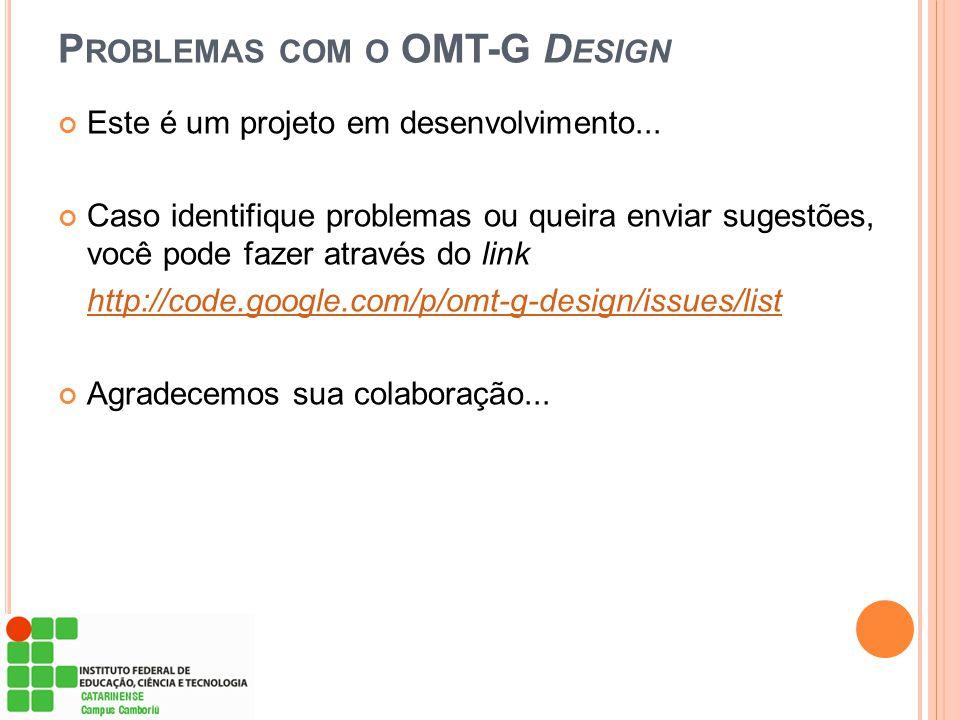 Problemas com o OMT-G Design