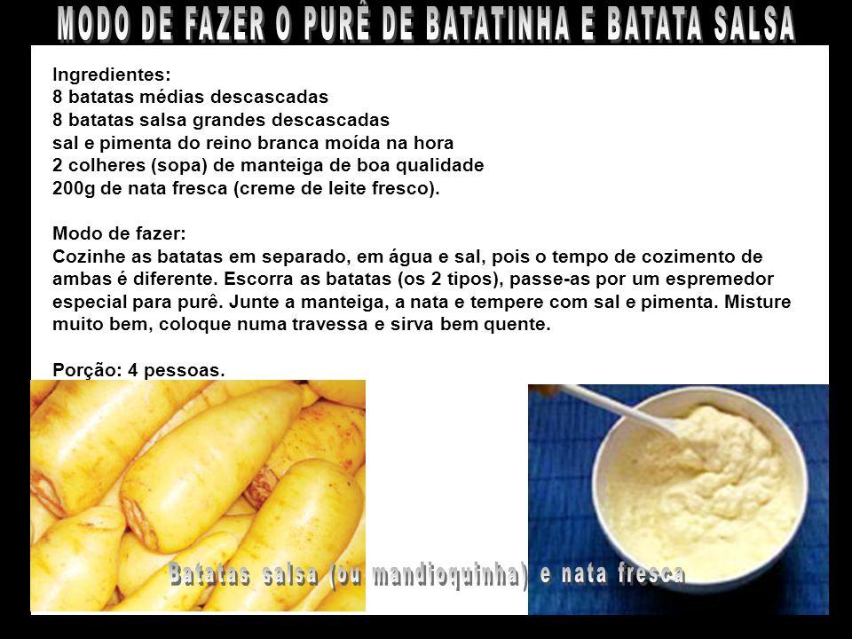 MODO DE FAZER O PURÊ DE BATATINHA E BATATA SALSA