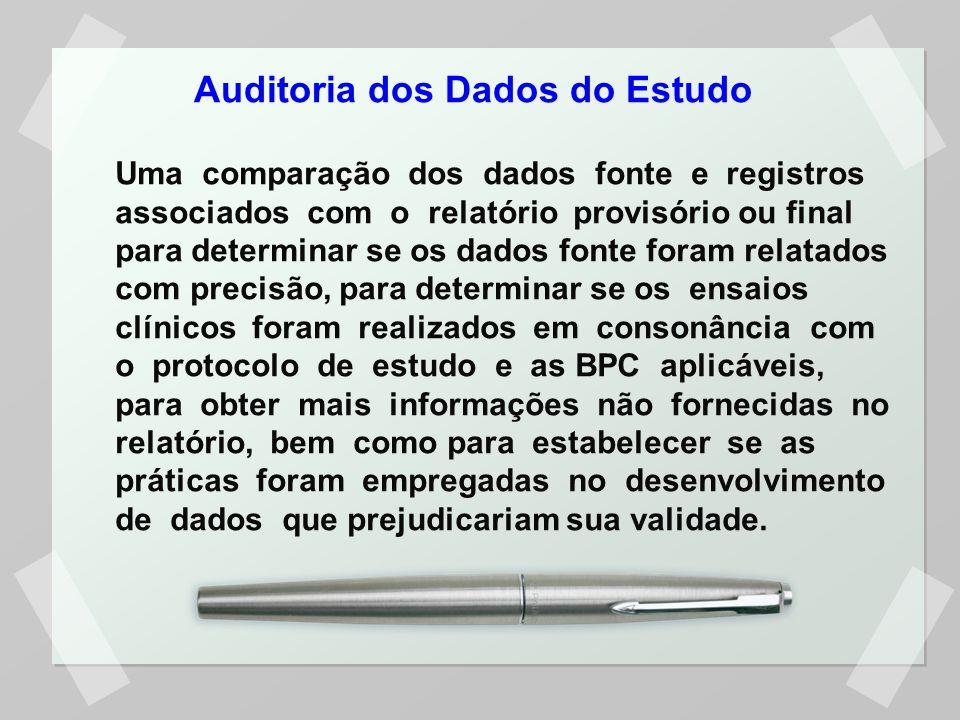 Auditoria dos Dados do Estudo