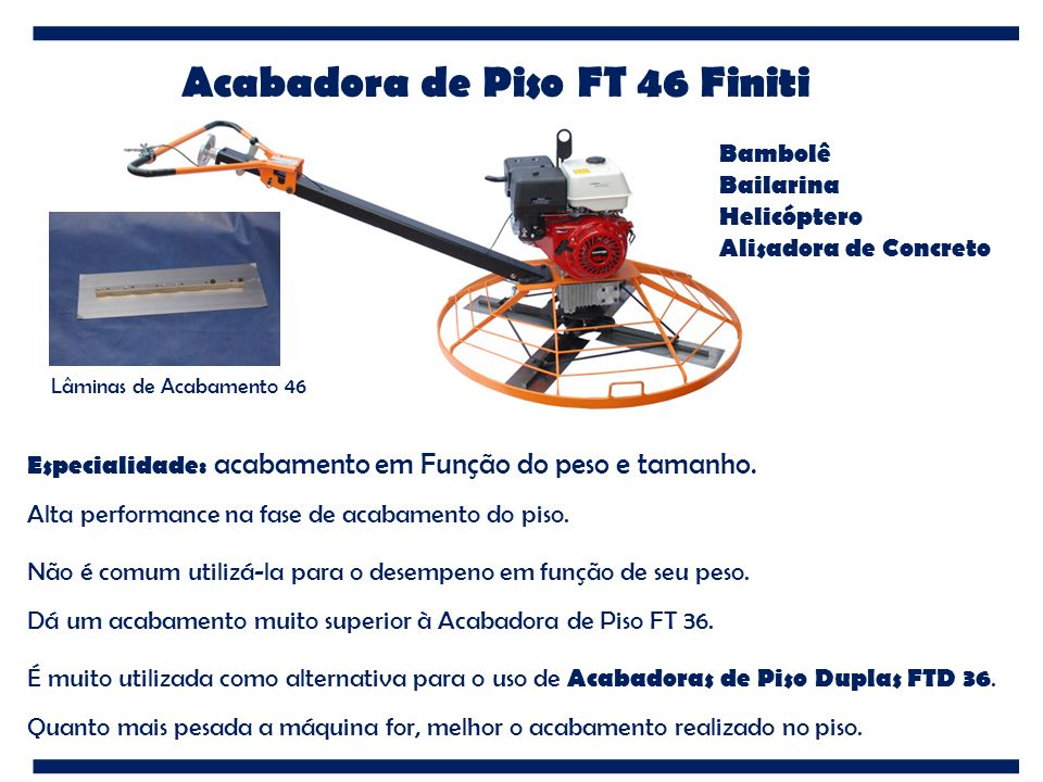 Acabadora de Piso FT 46 Finiti
