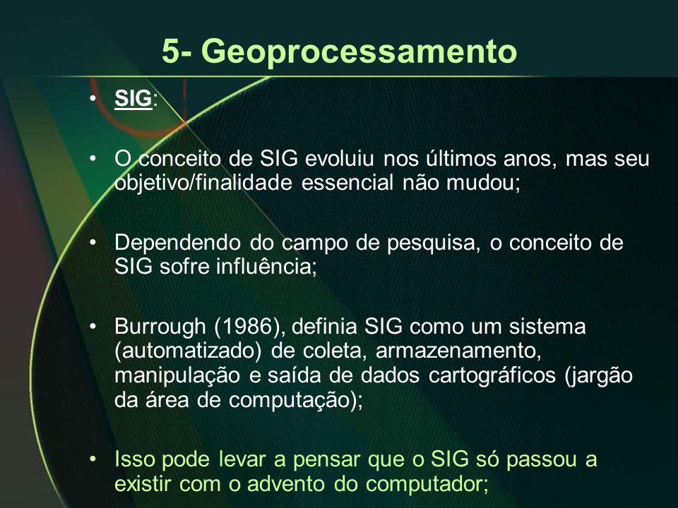 5- Geoprocessamento SIG: