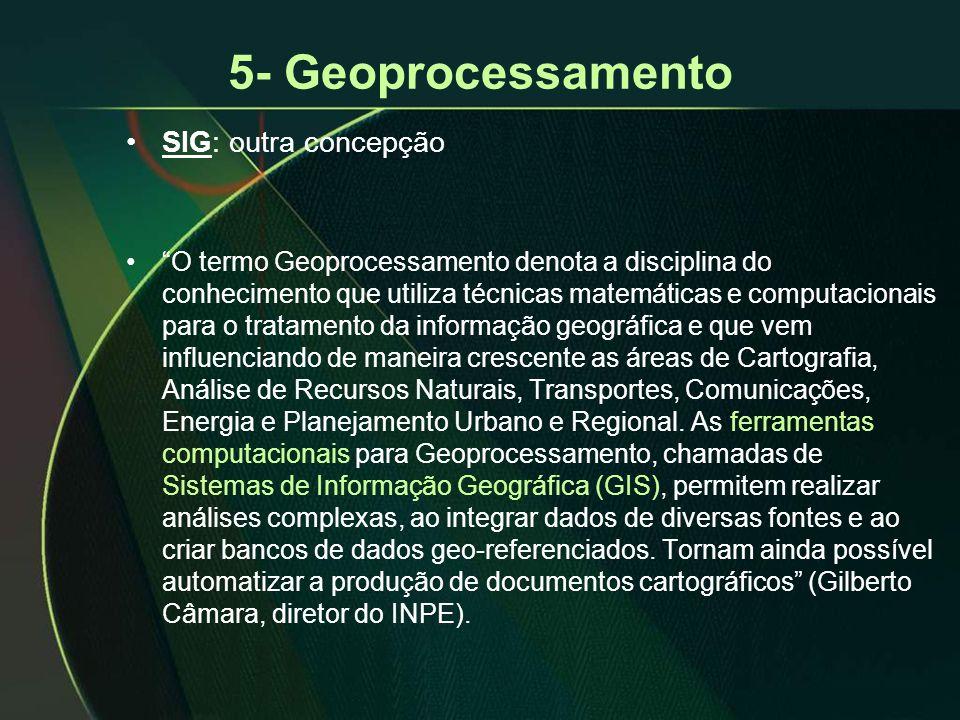 5- Geoprocessamento SIG: outra concepção