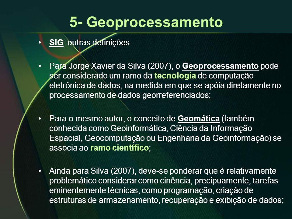 5- Geoprocessamento SIG: outras definições