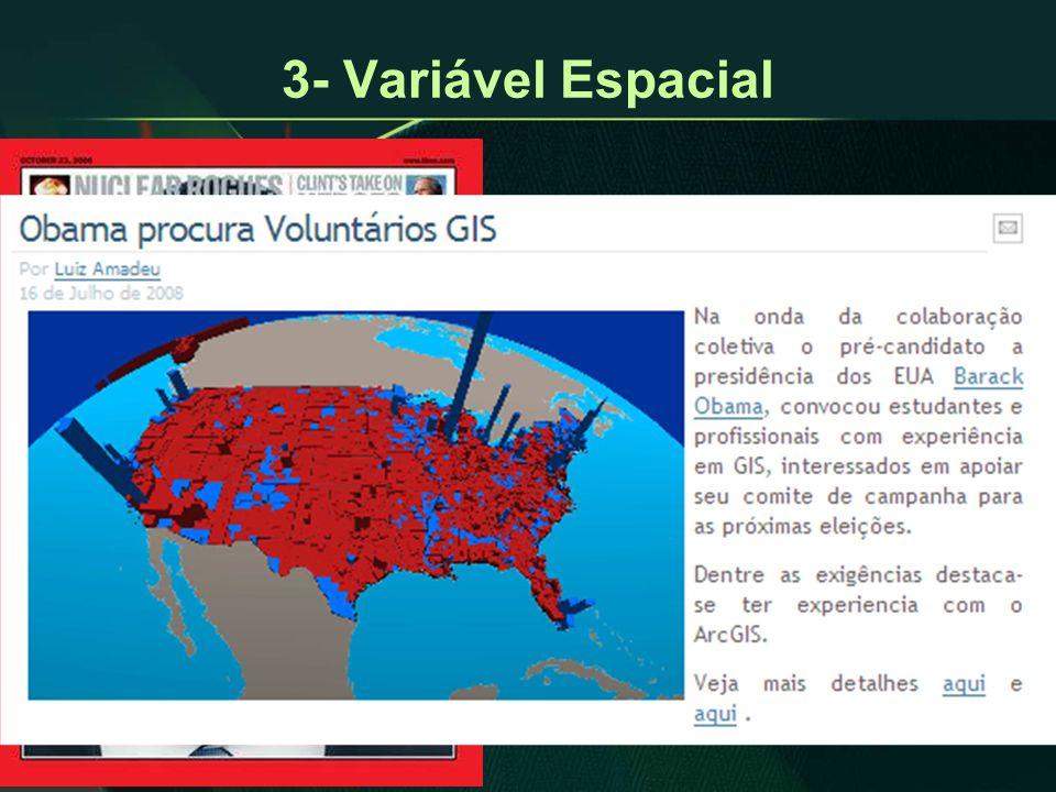 3- Variável Espacial Esporte, Educação, Saúde, Urbanismo, Agricultura, Turismo, Economia, Comércio, Indústria, Política