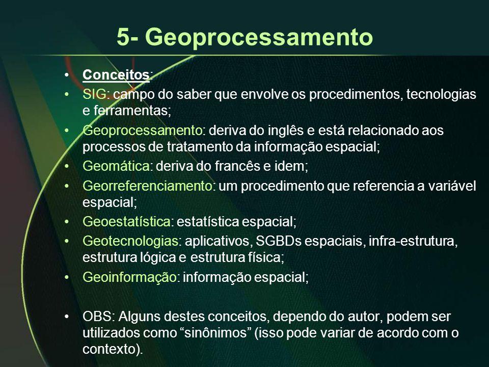 5- Geoprocessamento Conceitos: