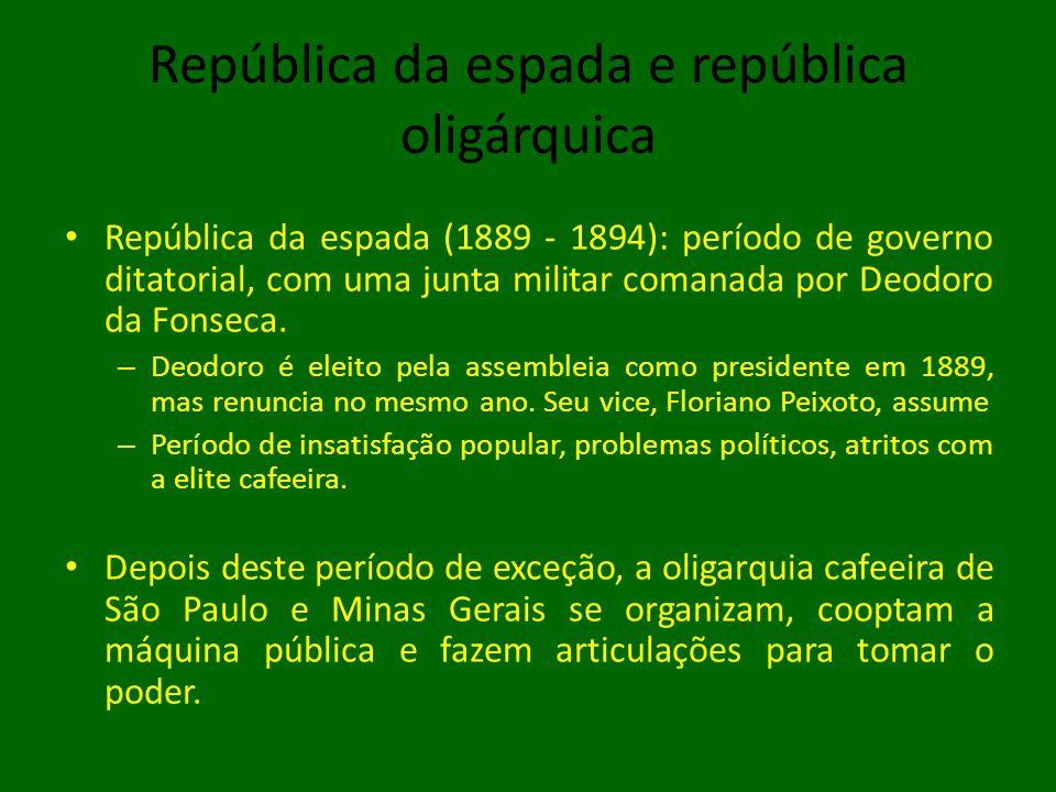 República da espada e república oligárquica