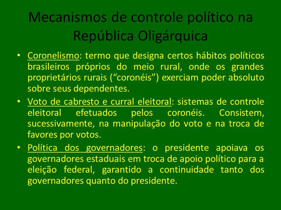 Mecanismos de controle político na República Oligárquica